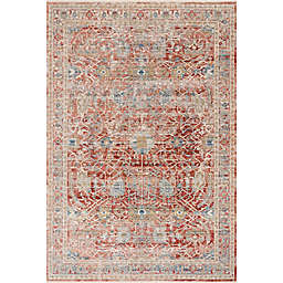 Loloi Claire Rug in Red/Ivory