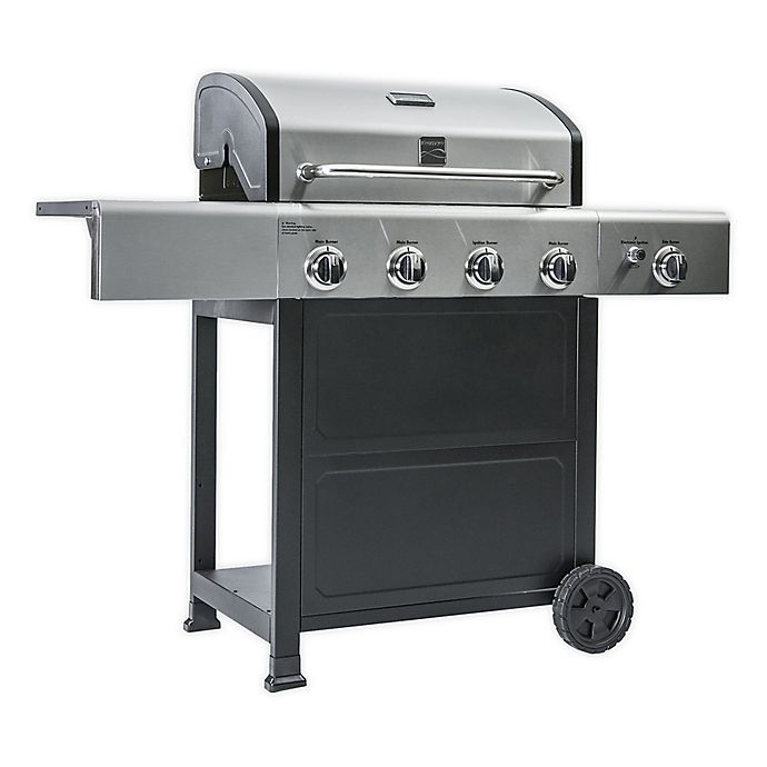 Alternate image 1 for Kenmore PG-40406SOL 4-Burner Gas Grill with Side Burner