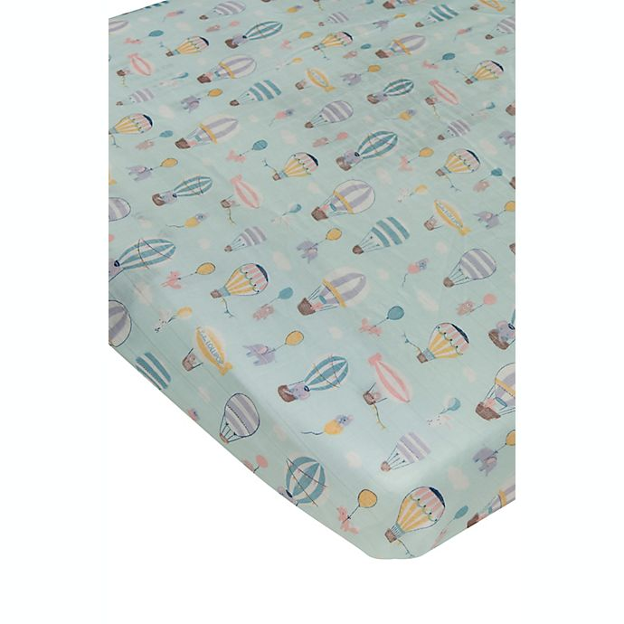 Alternate image 1 for Loulou Lollipop® Up Up and Away Muslin Fitted Crib Sheet