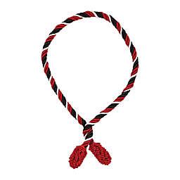 6-Pack Decorative Twist Ties in Black/Red
