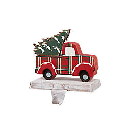 Glitzhome® Metal Truck Stocking Holder in Red