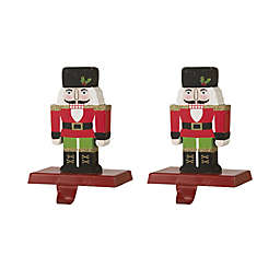 Glitzhome® Nutcracker Stocking Holders in Red (Set of 2)