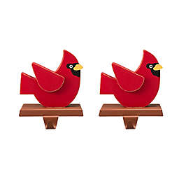 Glitzhome® Cardinal Stocking Holders in Red (Set of 2)