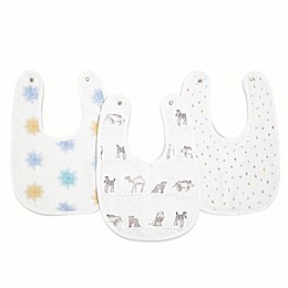 aden + anais essentials® 3-Pack Sunshine Snap Bibs in Grey/White