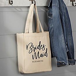 Classic Elegance Bridal Party Canvas Tote Bag