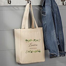 Laurels of Love Bridal Party Canvas Tote Bag