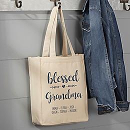 Blessed Grandma Canvas Tote Bag