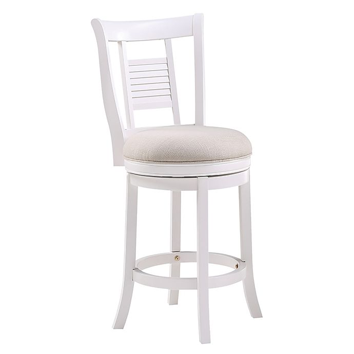 Alternate image 1 for American Woodcrafters Grove Swivel Stool in White/Ivory