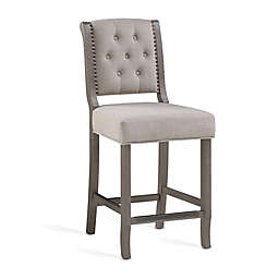 American Woodcrafters Kamelin Stool in Driftwood Grey