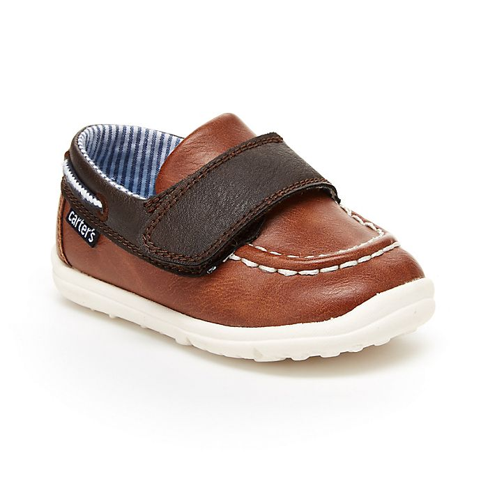 Alternate image 1 for carter's® Casual Boat Shoe in Khaki/Brown