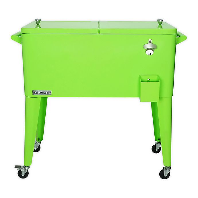 Alternate image 1 for Permasteel 80 Qt. Rolling Patio Cooler Cart