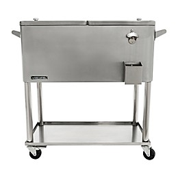 Permasteel 80-Quart Patio Cooler in Metallic