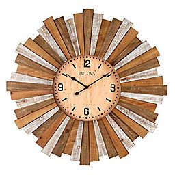 Bulova Sunburst 31.5-Inch Round Wall Clock