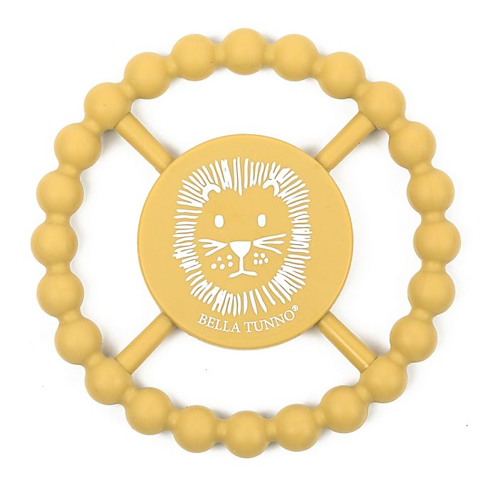 Alternate image 1 for Bella Tunno® Sketch Lion Happy Teether in Yellow