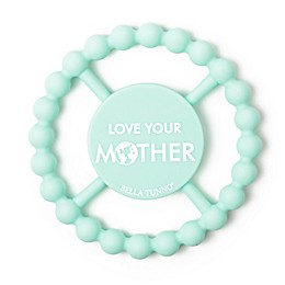 "Bella Tunno® Little Activist ""Love Your Mother"" Happy Teether in Teal"