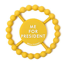 """Bella Tunno® Little Activist """"Me for President"""" Happy Teether in Yellow"""