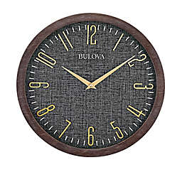 Bulova Lowell 13-inch Round Wall Clock in Espresso
