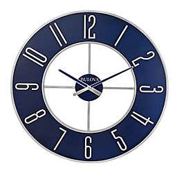 Bulova Blue Steel 27-Inch Round Wall Clock