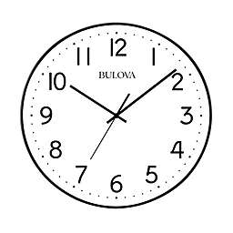 Bulova Office Mate 16-Inch Round Wall Clock in White
