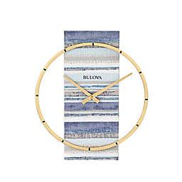 Bulova Nantucket 14.2-Inch x 11.8-Inch Floating Wall Clock in Blue