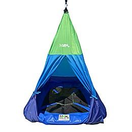 M&M Sales Enterprises Teepee Tent Swing in Green/Blue