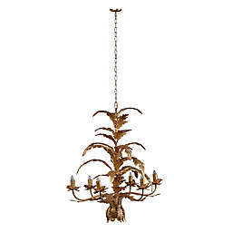 A&B Home Valerio 6-Light Chandelier in Antique Gold