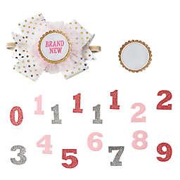 Mud Pie® 15-Piece Milestone Headband Set in Pink