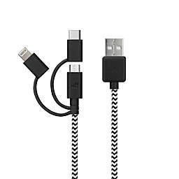MyTech 6-Foot Micro USB Lightning Type C Cable