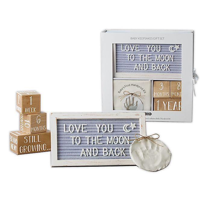Alternate image 1 for Mud Pie® Baby 5-Piece Keepsake Boxed Gift Set