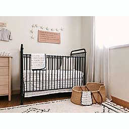 goumi® Bedding Separates 5-Piece Affirmations Crib Bedding Set in Black/White