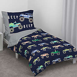 carter's® Monster Truck 4-Piece Toddler Bed Set in Navy