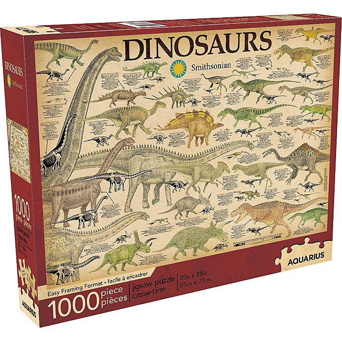 Alternate image 1 for Smithsonian 1,000-Piece Dinosaurs Puzzle