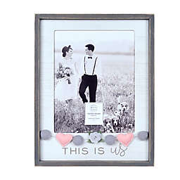 """Prinz Wedding """"This is Us"""" Picture 8-Inch x 10-Inch Frame with Felt Embellishments"""