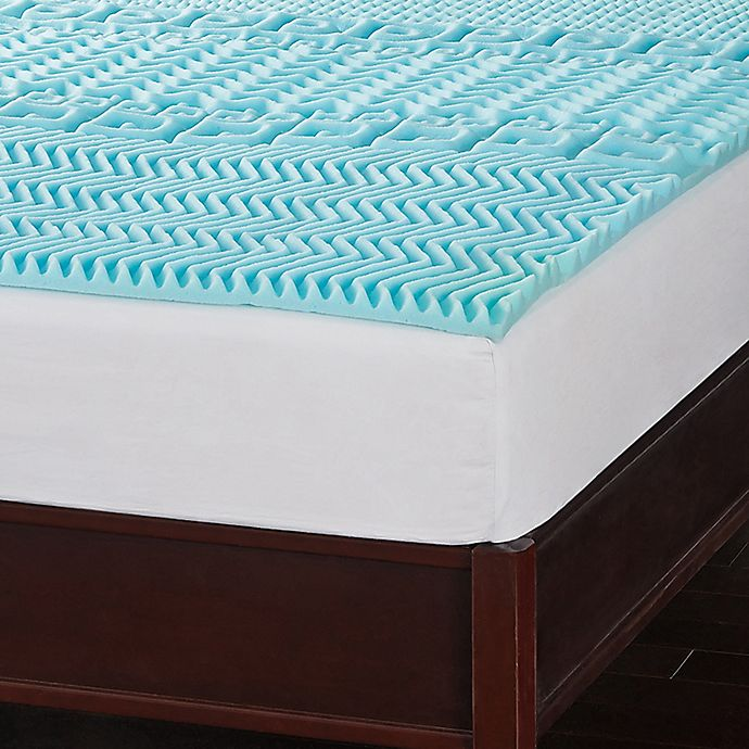 Alternate image 1 for Sleep Safe™ Ultimate Memory Foam King Mattress Topper