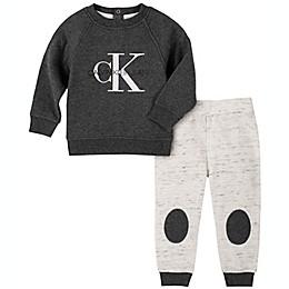 Calvin Klein® CK Logo 2-Piece Jogger Set in Charcoal/White