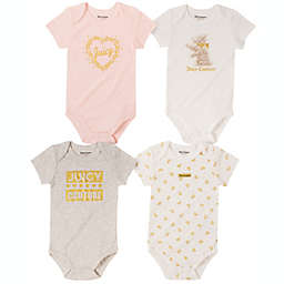 Juicy Couture® 4-Pack Short Sleeve Bodysuits