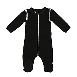 HannaKay by Manière Ribbed Stitch Footie in Black