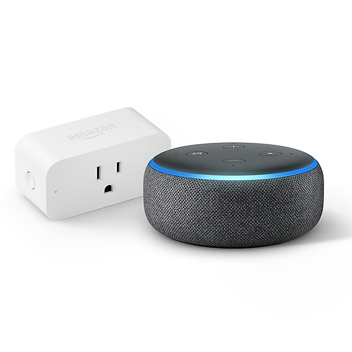Alternate image 1 for Amazon Echo Dot 3rd Generation + Smart Plug in Charcoal