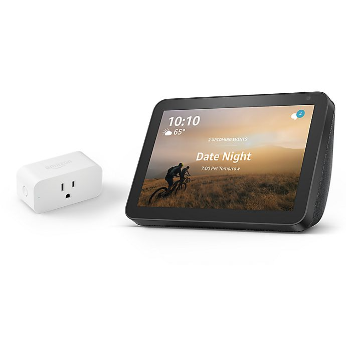 Alternate image 1 for Amazon Echo Show 5 + Smart Plug Bundle in Charcoal