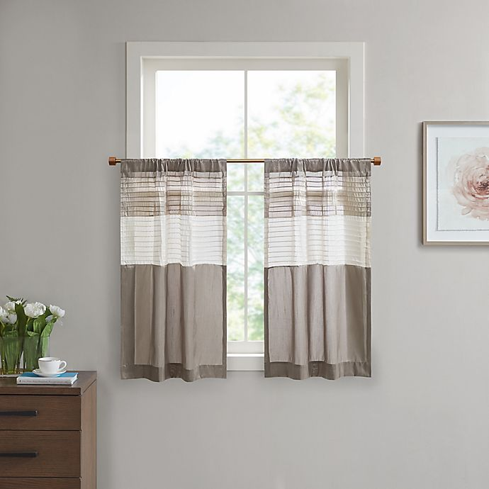 Alternate image 1 for Madison Park Amherst Window Curtain Tier Pair