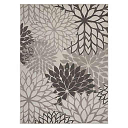 Nourison Aloha 9'6 x 13' Indoor/Outdoor Area Rug in Grey