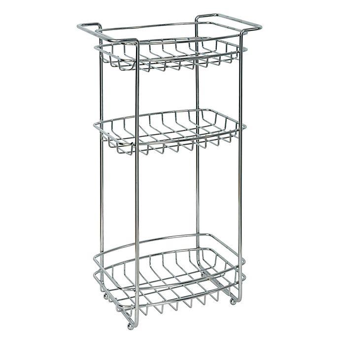 Alternate image 1 for Zenna Home® 3-Shelf Floor Stand in Chrome