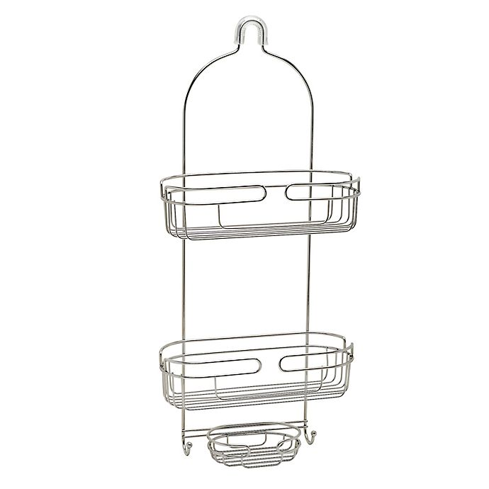 Alternate image 1 for Zenna Home® Over-The-Showerhead Caddy in Stainless Steel