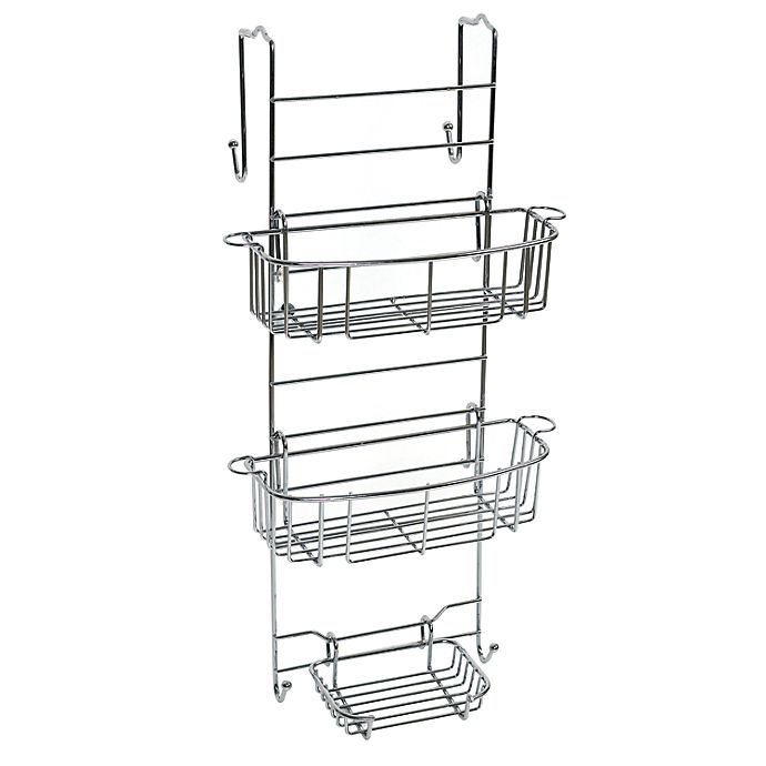 Alternate image 1 for Zenna Home® Premium Over-the-Shower Door Caddy in Stainless Steel