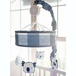 My Baby Sam Animal Parade Crib Mobile in Navy/White