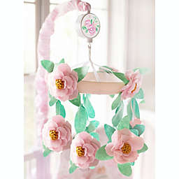 My Baby Sam Wildflower Crib Mobile in Pink/White