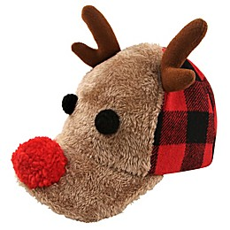 Rising Star™ Buffalo Check Reindeer Hat in Brown
