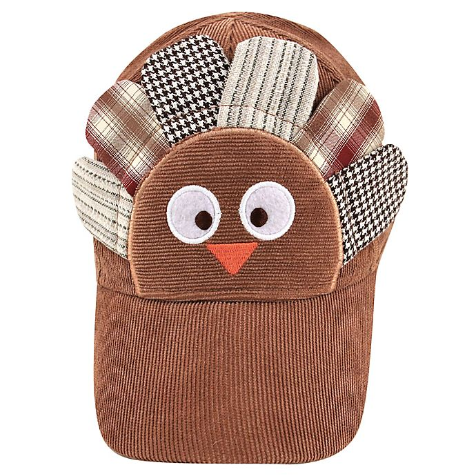 Alternate image 1 for Addie & Tate Newborn Turkey Cap in Brown