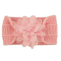 Addie & Tate Knit Flower Headband in Pink