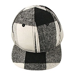 Addie & Tate Plaid Cap in Grey